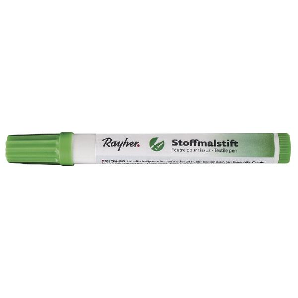 Textilfestő toll, vastag hegyű, vil.zöld