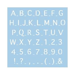 Sablon: betűk 2, 30x30 cm