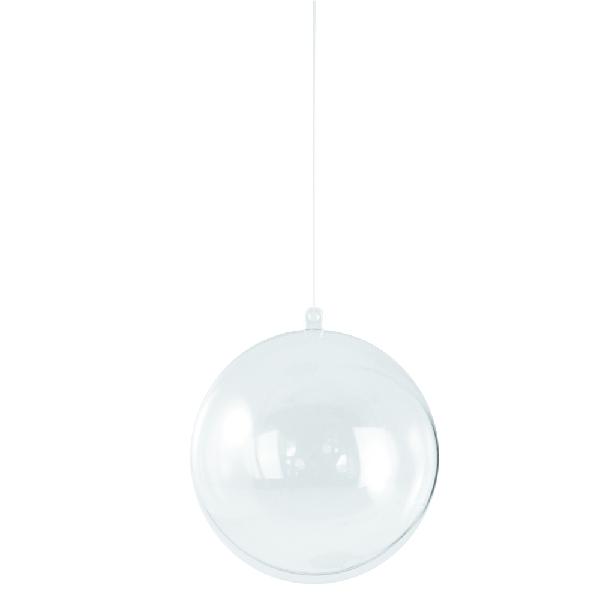 Műanyag gömb, kettéosztható,16 cm
