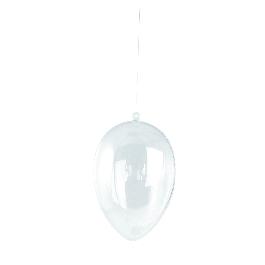 Műanyag tojás, 2 fél, 12 cm, átlátszó