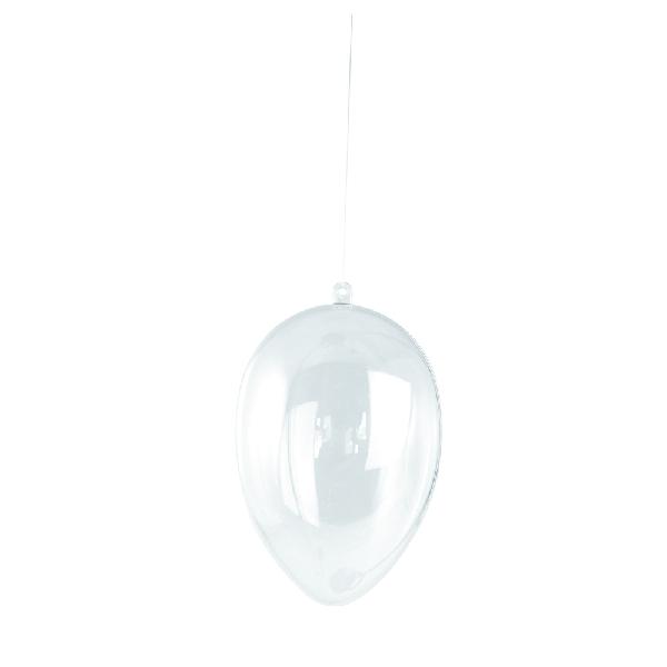 Műanyag tojás, szétszedhető,átl.,14 cm