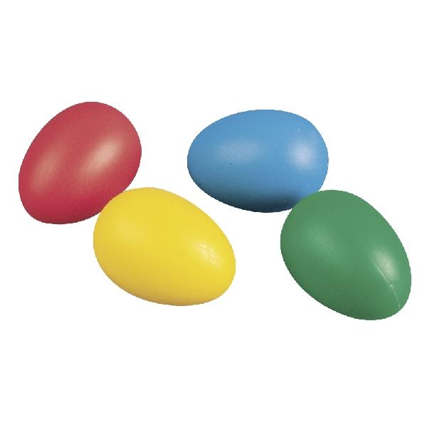 Műanyag tojás, 6 cm, 4 színben, 10 db/csom.