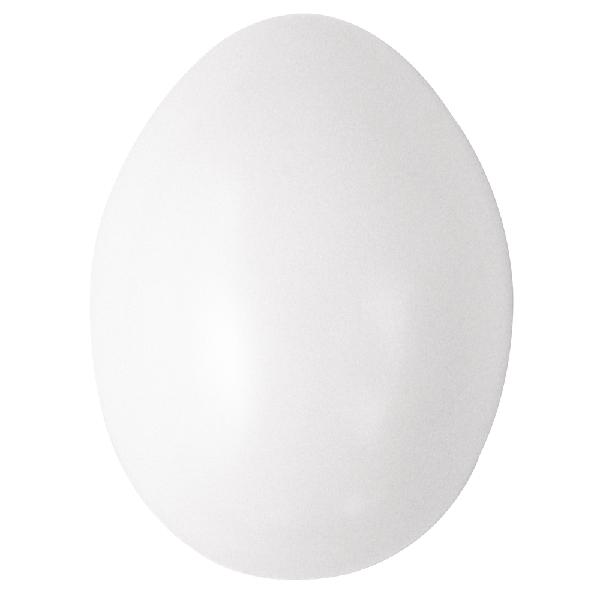 Műanyag tojás, 6 cm, fehér