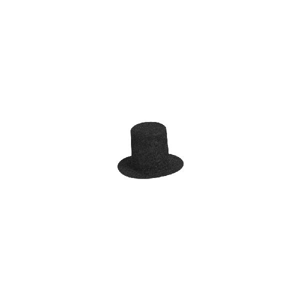 Velúrcilinder, 30 mm átm.,fekete, nagy kisz.