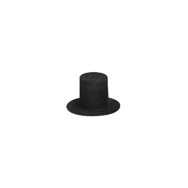 Velúrcilinder, 40 mm átm.,fekete, nagy kisz.