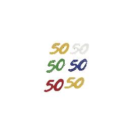 Jubileum-flitter, 5 színben, 50, csom. 12 g