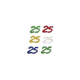 Jubileum-flitter, 5 színben, 25, csom. 12 g