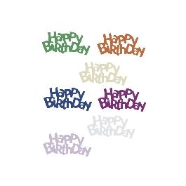 Happy Birthday-flitter, 15 mm, csom. 10 g