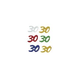 Jubileum-Flitter, 5 színben, 30, 30, csom. 12 g