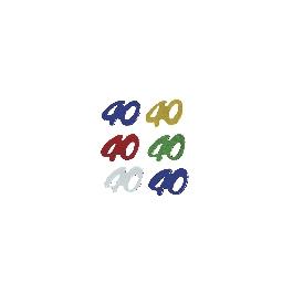 Jubileum-Flitter, 5 színben, 40, 40, csom. 12 g