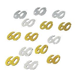 Jubileum-Flitter, 60, csom. 12 g, arany/ezüst