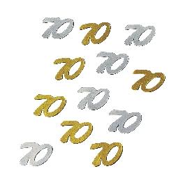 Jubileum-Flitter, 70, csom. 12 g, arany/ezüst