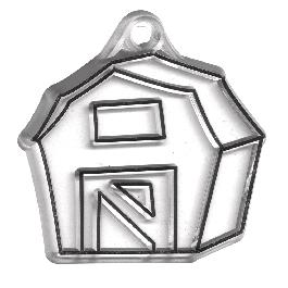 Akrilfüggő, házikó, 5,5x5,5 cm