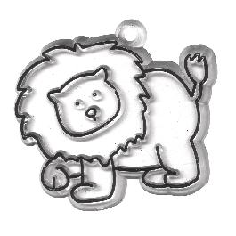 Akrilfüggő, oroszlán, 7x6,5 cm