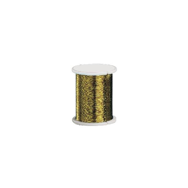 Rugalmas fűzőszál, arany, 0,2 mm, 50 m/tek.