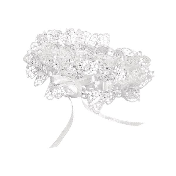 Harisnyakötő, fehér, 30 cm