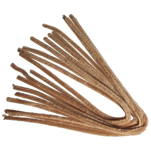 Zseníliadrót, 50 cm, bézs, csom. 10 db, 9 mm vastag