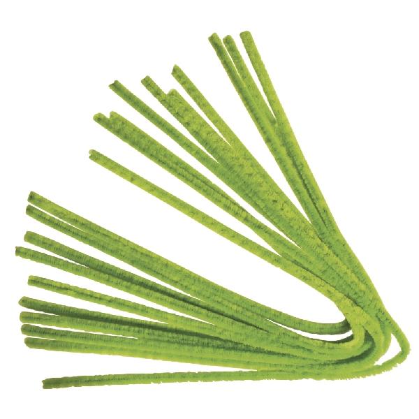 Zseníliadrót, 50 cm, vil.zöld, csom. 10 db, 9 mm vastag