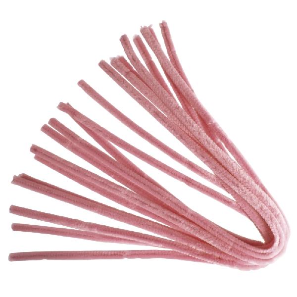 Zseníliadrót, 50 cm, rózsaszín,csom. 10 db, 9 mm vastag