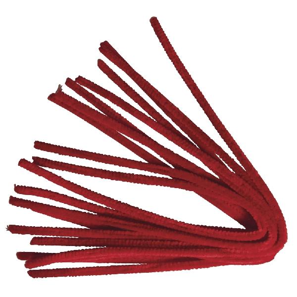 Zseníliadrót, 50 cm, piros, csom. 10 db, 9 mm vastag