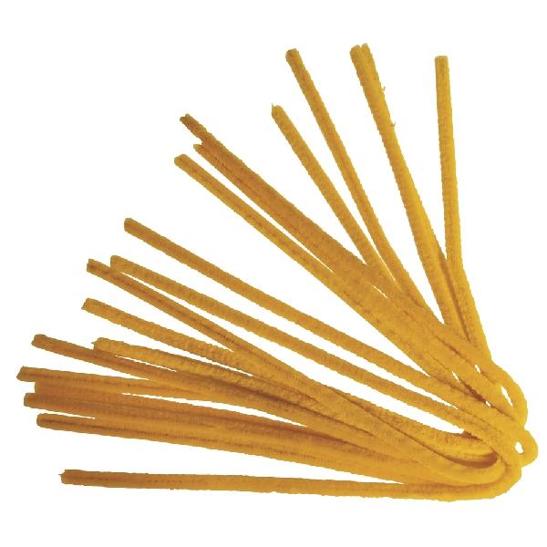 Zseníliadrót, 50 cm, sárga, csom. 10 db, 9 mm vastag