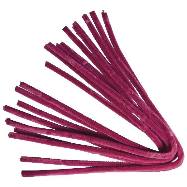 Zseníliadrót, 50 cm, pink,10 db, 9 mm vastag