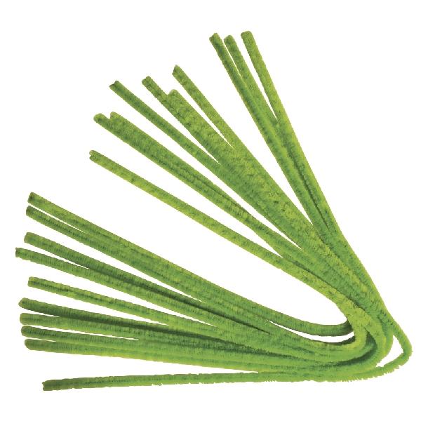Zseníliadrót, 50 cm, vil. olívazöld,10 db, 9 mm vastag