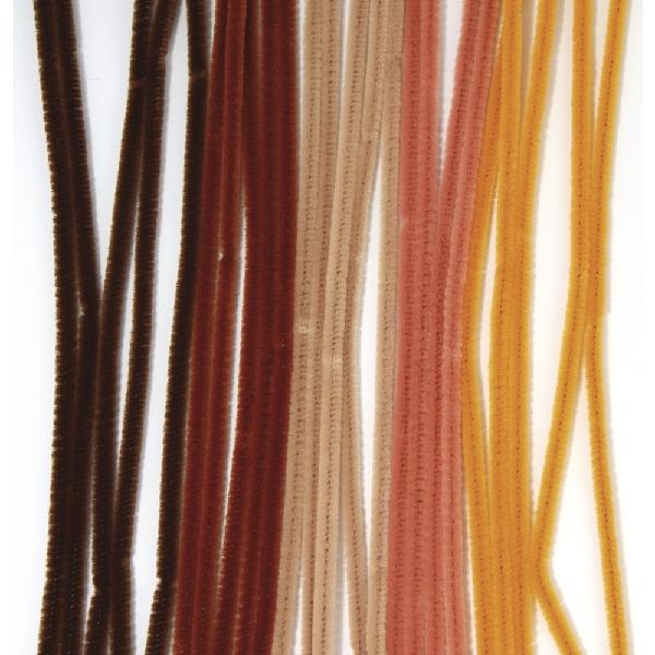 Zseníliadrót, 30 cm, barna árnyalatok vegyesen, csom. 25 db, 6 mm vastag