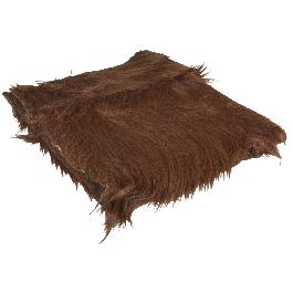Hosszú szőrű plüss, sötétbarna, 30x48 cm