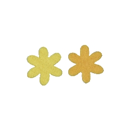 Filc csillagvirág, 3 cm, sárga/narancssárga,2 színben, csom. 12 db