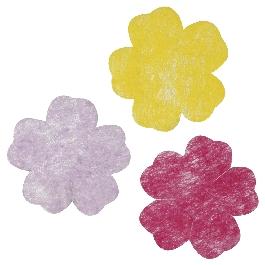 Flízvirágok, 4-5 cm, 288 db,3 árnyalat