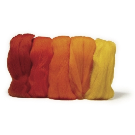 Fésült Merino gyapjú, extra finom, piros árnyalatok, 18 mic, csom. 5 szín á 10g