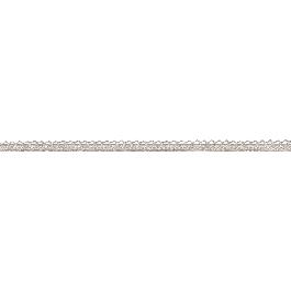 Díszbordűr metallic, gyöngyház, 8mm, 10m