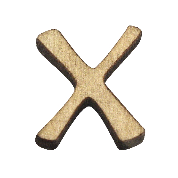 Fabetű, X, 2 cm