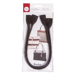 Műbőr táskafül, s.barna, 50,5x2,5 cm, csom. 1 pár