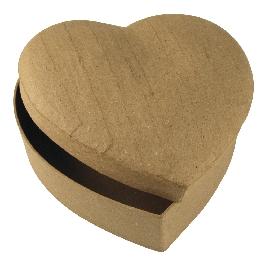 Papírmasé doboz szív,15,5x15,5x6,5 cm