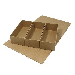 Papírmasé doboz, 29,5x22x6,5 cm, 3 kivehető belső résszel