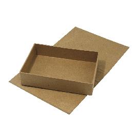 Papírmasé doboz, 13x19x4,5 cm, kivehető belső résszel