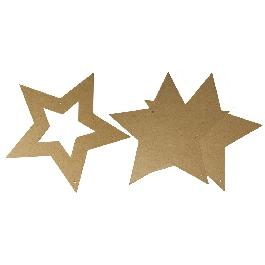 Papírmasé csillag, 3 részes.,22x22 cm