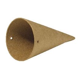Papírmasé kúp 3 db/készl.,átm. 5x10 cm