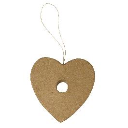 Papírmasé függő, szív, kémcsőhöz, 9x9,5x1 cm (kémcső 56-107-00)
