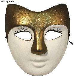 Papírmasé maszk: arc, 21,5x8 cm, gumis