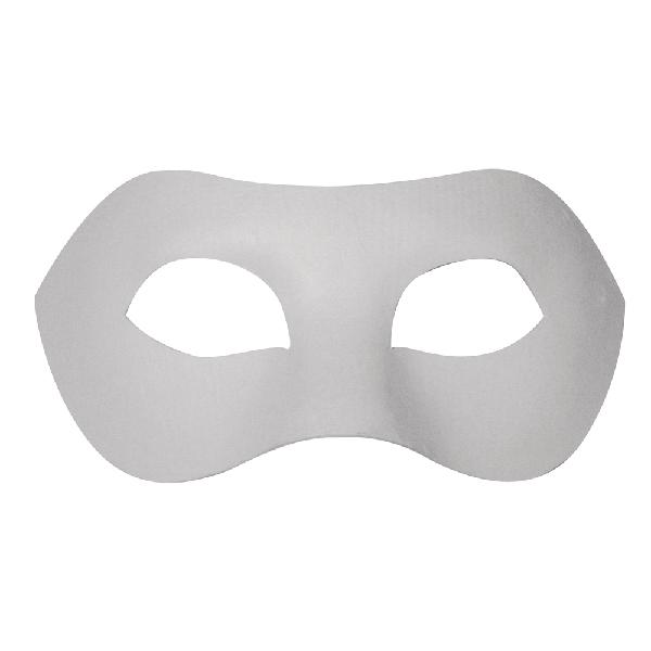 Papírmasé maszk: szemmaszk, 20x10 cm, gumis