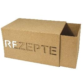 Papírmasé doboz, tolótetős 22x16x13 cm, Rezepte