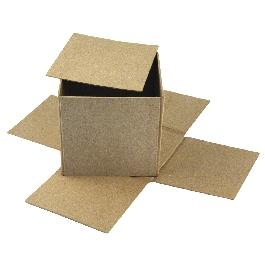 Papírmasé doboz, Cover Me, 12x12x11 cm