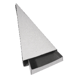 Háromszögletű gyufásdoboz, 11x6x2 cm, 12 db/csom.