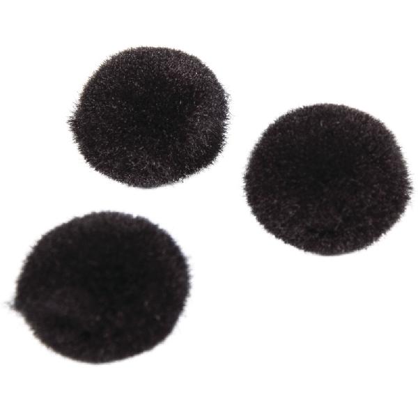 Pomponok, fekete, 10 mm, csom. 65 db
