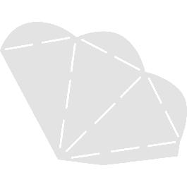 Sablon, hegyes tasak, 21,8x14,7 cm,1 db