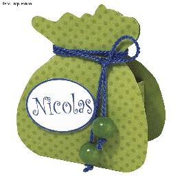 Sablon ajándékcsomag, 21,6x12,9 cm, 1 db