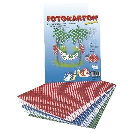 Fotokarton pöttyös, 5-féle szín, 300g/m2, 25x35 cm, 10 ív/mappa